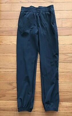 ff117b124e9e3b Ivivva Lululemon Your Pursuit Pant Black Joggers Snap Bottom Track Pants  Size 14