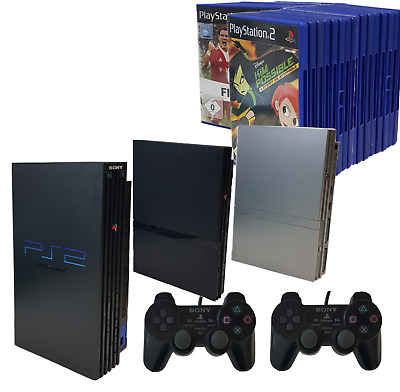 PS2 Sony Playstation 2 / PS2 -+Controller + Memory Card bis 20 Spiele
