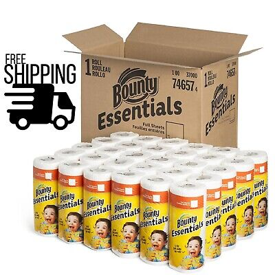 Bounty Essentials Paper Towels, 40 Sheets/Roll, 30 Rolls/Carton - FREE SHIPPING