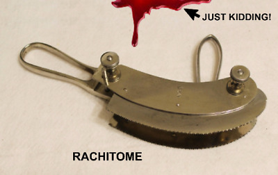 Vintage Double Bladed Rachitome - Used for Autopsy of Spinal Cord - Great Cond.!
