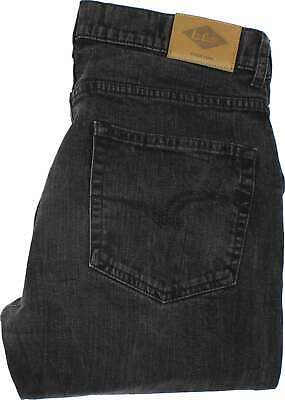 Lee Cooper Mens Charcoal Straight Stretch Jeans W31 L26 (35847)