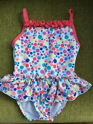 Baby Girls Swimsuit Age 12-18 Months By Mini B @ Bhs Frill Detail Spotted Bnwt