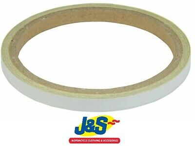 Bike It Reflective Wheel Body Stripes 7MM Motorcycle Trim Tape WST014 White J&S