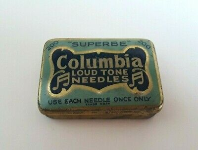 Vintage Columbia Loudtone 200 Needle Tin... Some Needles - nice condition