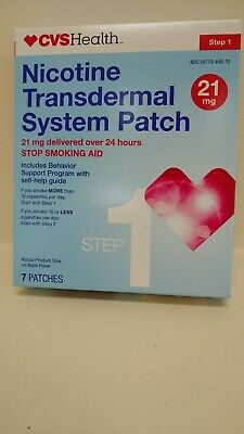 CVS Health Step 1 Transdermal Patch,21 mg, 14 count expires: 04/2020 Ships Free