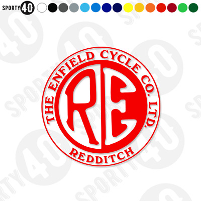 Royal Enfield Cycle Co - Vinyl Decal Sticker - Motorbike Heritage 4508-0119