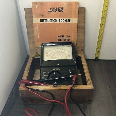Authentic Vintage Sanwa Sp- 6 Meter Original Manual And Box Working Japan