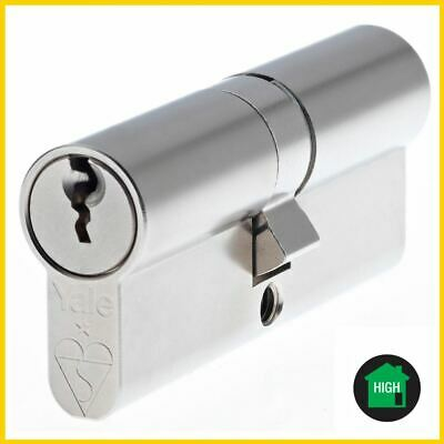 Yale British Standard Euro Double Cylinder Nickel Plate 40x50  Cylinder Locks