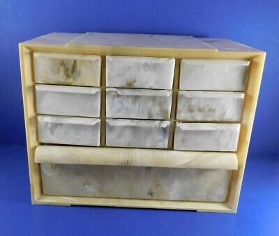 Vintage AKRO MILS Storage Cabinet 10 Drawers Plastic Crafts Jewelry