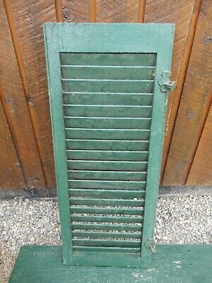 """VINTAGE OLD SHUTTER Wooden 35"""" long x 14"""" Wide Architectural Salvage #14"""
