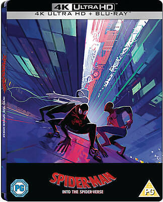 Spider-Man: Into the Spider-Verse (4K) Steelbook W/ Protective Cover (loose disc