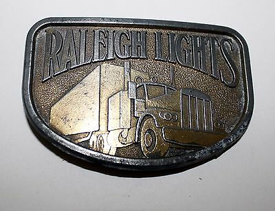 Vintage 1981 Brass Raleigh Lights Belt Buckle Collectible, by RJ