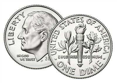 2019 Roosevelt Dime P & D from Uncirculated US Mint Set