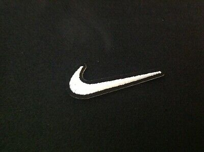 41087aada1e23 NIKE SWOOSH LOGO High-Quality Embroidered Iron On Patch Black ...