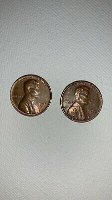 TWO 1971 D Lincoln Penny Rare Error Coins