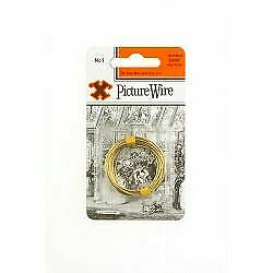 X Brass Picture Wire (Blister Pack) No. 1 Hardware  Ironmongery 12834