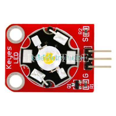 5PCS KEYES 3W LED Module High-Power with PCB Chassis for Arduino STM32 AVR