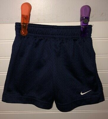 Nike Baby Boys Navy Blue Mesh Shorts Size 2T Excellent Condition