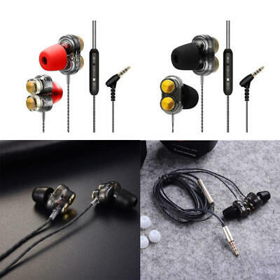 3.5mm With Microphone Subwoofer Music In-Ear Stere Headphones Earphones