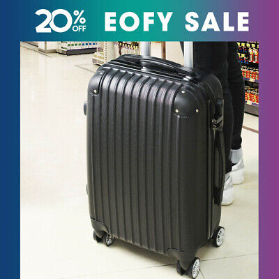 "20"" Cabin Luggage Suitcase Code Lock Hard Shell Travel Case Carry On Bag Trolley"