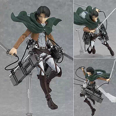 HOT Anime Shingeki No Kyojin Attack on Titan 15cm Rivaille Action Figure PVC Toy