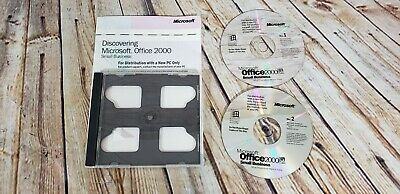 Microsoft Office 2000 Small Business with Product Key and Both Discs