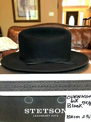 1333eff517065 STETSON OPEN ROAD 6X Cowboy Hat Chocolate Brown -  155.00