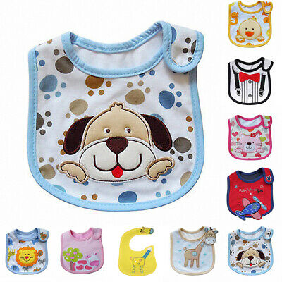 Kid Newborn Baby Bibs Burp Cloths Waterproof Animals Feeding Bandana Saliva Bibs