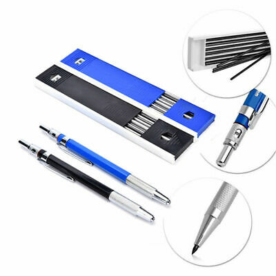 2mm 2B Lead Automatic Mechanical Pencil Drawing Stationery +12 Lead Refills