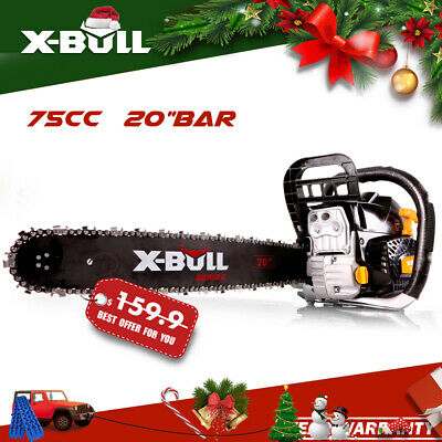 "X-BULL Chainsaw 62cc 20"" Bar Petrol Commercial Chain Saw E-Start Pruning"