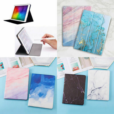 Marble Smart Magnetic Case for iPad 9.7 2018 Mini 1 2 3 4 5 Stand Folding Cover