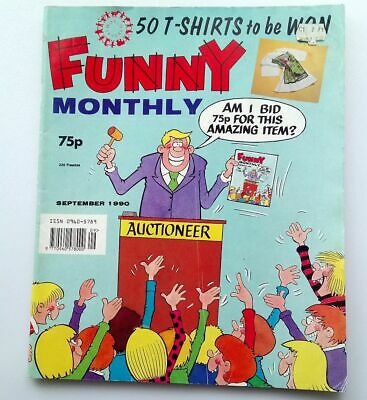 Funny Monthly September 1990 Collectable Childrens Vintage Kids Comic UK *
