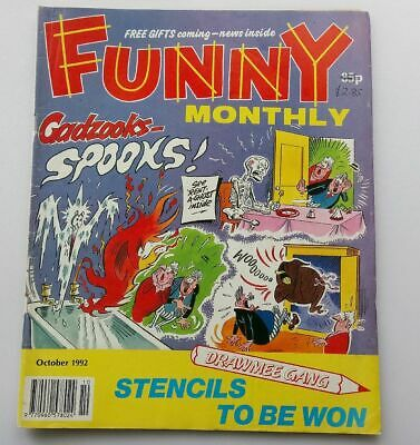 Funny Monthly October 1992 Collectable Vintage Childrens Kids Comic  UK *
