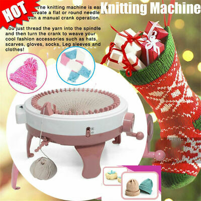 48 Needle Hand Knitting Machine Weaving Loom for Scraf Hat Kids Learning Toy DIY