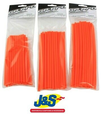 Bike It GP Pro Spoke Shrouds 21CMS Orange SPKSHR21OR Motorcycle Wheel Wrap J&S