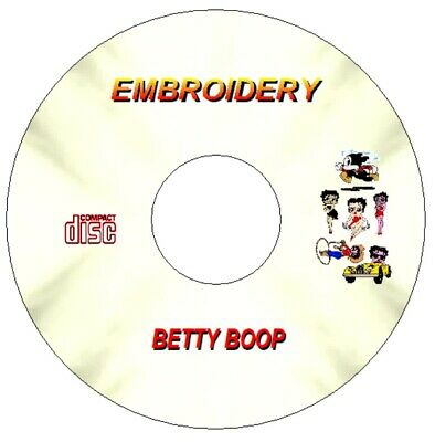 Betty Boop Embroidery Designs For Brother Machine Pes Cd
