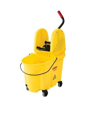 NEW Rubbermaid Commercial 7577-88 WaveBrake 35-Quart Mop Bucket Wringer, Yellow