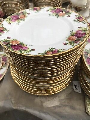 ROYAL ALBERT OLD COUNTRY ROSE 20 Cm Side  PLATES X 6