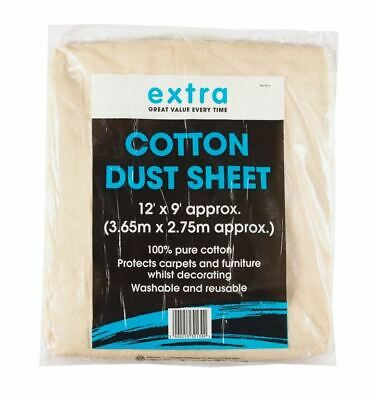 Harris Taskmasters Budget Cotton Sheet 12ft x 9ft DIY Dust Sheets 30130