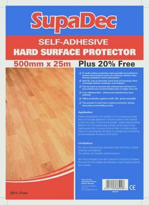 SupaDec Hard Floor Protector Film Plus 20% Extra 500x25 DIY Dust Sheets