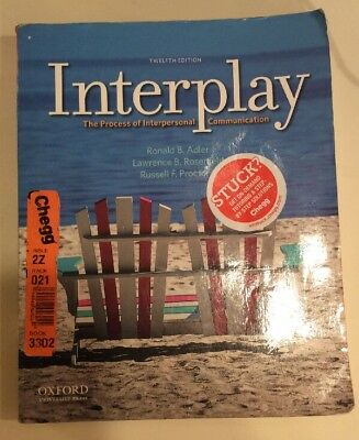 Interplay The Process of Interpersonal Communication Adler 12th Edition Textbook