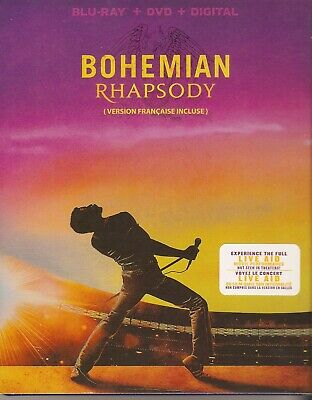 BOHEMIAN RHAPSODY BLURAY & DVD SET with Rami Malek & Mike Myers & Aiden Gillen