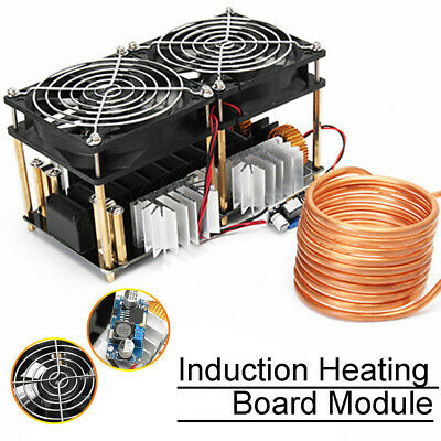 1800W ZVS Low Voltage Induction Heating Board Module Flyback Driver Heater +Coil