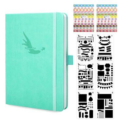 Bullet Journal Dotted Notebook A5 + Bonus Stencils and Planner Marine Teal