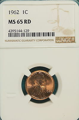 1962-P NGC MS65 RED Lincoln Memorial Cent!!! #A5356