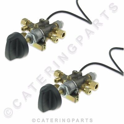 PACK 2 x GV07 8mm NAT LP LPG GAS TAP VALVE WITH SPARK IGNITOR / BURNER IGNITION