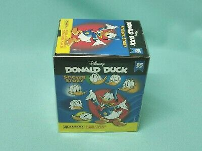 Panini 85 Jahre Donald Duck Sticker Story 1 x Display / 50 Tüten