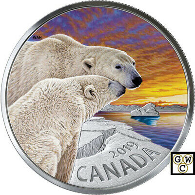 2019 'The Polar Bear-Canadian Fauna' Proof $20 Fine Silver 1oz.Coin (18683)(NT)