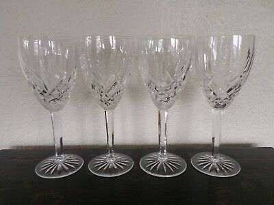 3 Waterford Lismore Nouveau Wine Glasses + 1 Chipped