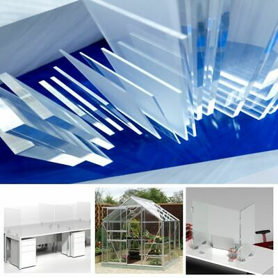 Clear Perspex Acrylic Sheet Panel Plastic Sign Panel Greenhouse Shed Display 3mm